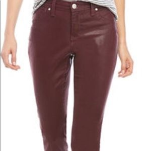 New Directions Women's Skinny Coated Jeans
